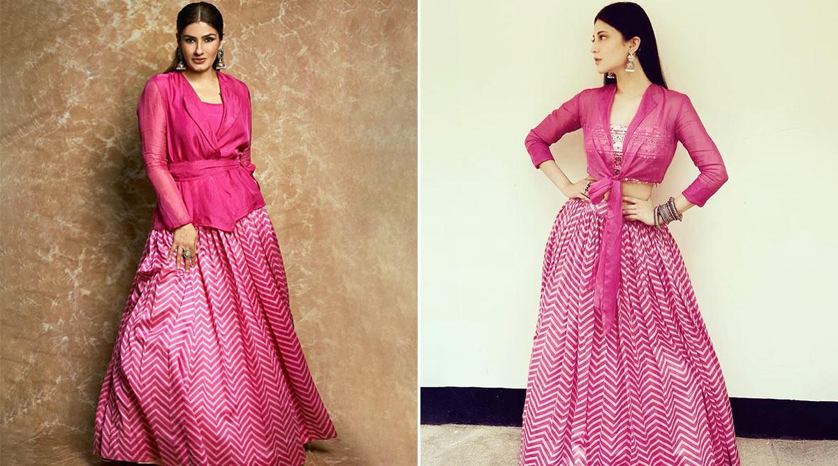Fashion Face-Off: Raveena Tandon or Shruti Haasan in Label Anushree? Who Is the Prettiest in Pink?