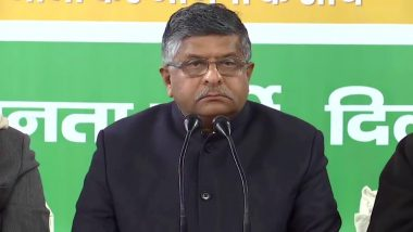Pegasus Project: BJP Strongly Refutes, Condemns Baseless & Bereft of Political Propriety Comments Leveled by Congress, Says Ravi Shankar Prasad