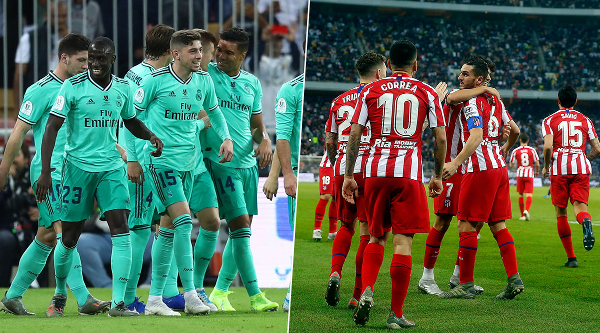 Real Madrid vs Atletico Madrid Head-to-Head Record: Ahead of Supercopa de Espana 2019–20 Final Clash, Here Are Match Results of Last 5 Encounters