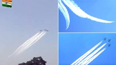 Republic Day Parade 2020: IAF Shows Spectacular Air Extravaganza With 'Trishul', 'Vic', 'Arrowhead' Formations; Watch Video