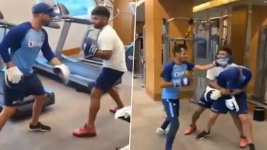 Rishabh Pant Shares Hilarious Video of Him and Yuzvendra Chahal Working Out in the Gym Ahead of India vs Sri Lanka 1st T20I 2020 (Watch Video)