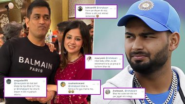 Rishabh Pant Comments on Sakshi Dhoni's Post, Annoyed Fans Taunt Wicket-Keeper Batsman With 'Focus on Cricket' Jibe