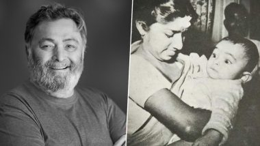 Rishi Kapoor Gets Nostalgic, Shares a Photo of His 2-Month Old Self With Lata Mangeshkar (View Post)