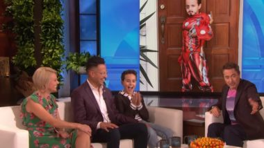 Robert Downey Jr Meets Boy With Autism on Ellen DeGeneres Show; 10-Year-Old Reveals How Iron Man Helped Him Speak Again (Watch Video)