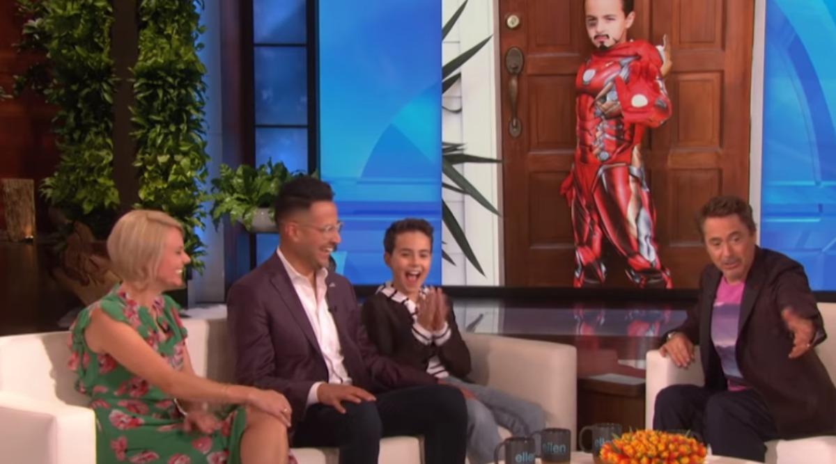 Robert Downey Jr Meets Boy With Autism on Ellen DeGeneres Show; 10-Year-Old Reveals How Iron Man Helped Him Speak Again (Watch Video)