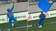 Rohit Sharma Takes Smart Catch Near Boundary Rope to Dismiss Martin Guptill During India vs New Zealand 1st T20I 2020 (Watch Video)