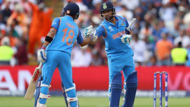 Virat Kohli Hugs Rohit Sharma After his Heroics in Super Over During IND vs NZ 3rd T20I 2020, Squashes the Rumours of Rift Between the Two! (Watch Video)