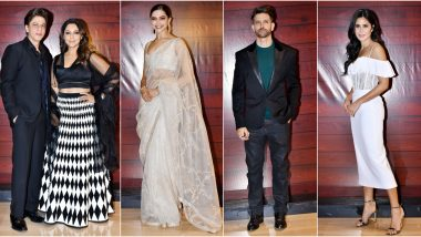 Javed Akhtar's 75th Birthday Bash: Shah Rukh Khan and Gauri Khan, Deepika Padukone, Hrithik Roshan, Katrina Kaif and Others Attend (View Pics)