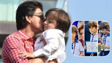 Shah Rukh Khan Is Proud of His Little 'Gold Medal' AbRam for Winning It Big at His Sports Day (View Pic)