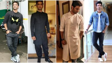 Sushant Singh Rajput Birthday Special: The ChhichhoreActor Knows How to Rock Simple Casuals With Style (See Pics)