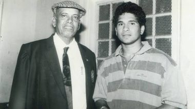 Sachin Tendulkar Posts Emotional Message on Childhood Coach Ramakant Achrekar's 1st Death Anniversary, Check Tweet