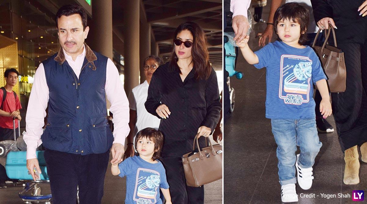 Saif Ali Khan, Kareena Kapoor Make a Stylish Appearance at Mumbai Airport With Cutie Taimur! (View Pics)