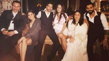 Anushka Sharma-Virat Kohli, Varun Dhawan-Natasha Dalal, Saif Ali Khan-Kareena Kapoor Khan Pose For a Starry Frame Giving us K3G Feels!