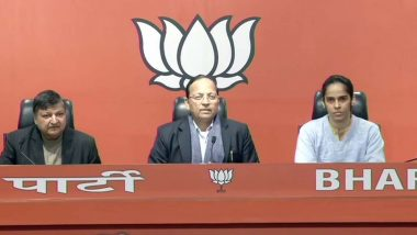 Saina Nehwal Joins BJP Along WIth Sister Chandranshu, Ace Badminton Player Begins Political Career, Says 'Want to Work Hard Like PM Narendra Modi'