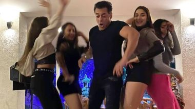 Salman Khan and Saiee Manjrekar Welcome 2020 by Dancing On Table Top Unabashedly! (View Viral Pic)