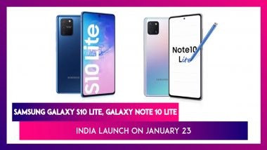 Samsung Galaxy Note 10 Lite & Galaxy S10 Lite To Be Launched In India Next Week; Prices, Variants, Features & Specifications