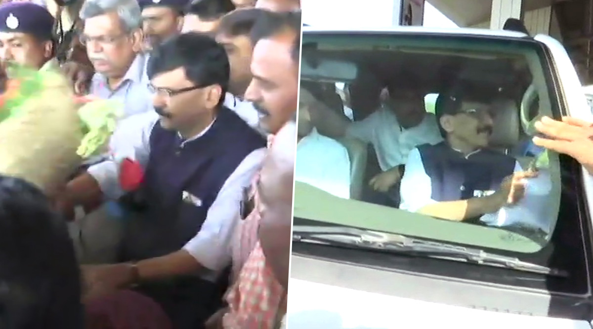 Sanjay Raut Arrives in Belgaum Amid Protest by Pro-Kannada Outfits, Says 'Being Taken to Unknown Location by Karnataka Police'