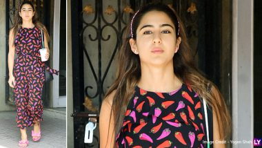 Sara Ali Khan Rocking That Chic Hot Pepper Printed Jumpsuit Is Our Forever Mood!