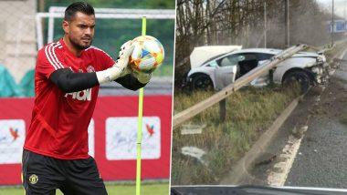 Sergio Romero Escapes Unhurt After £170,000 Lamborghini Crashes into Roadside Barrier Outside Manchester United Training Complex