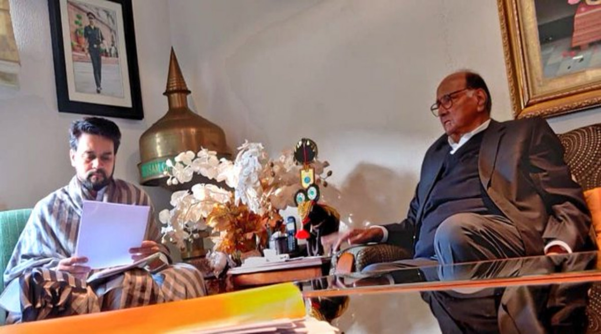 Sharad Pawar Meets Anurag Thakur to Discuss Revival of Scam-Hit PMC Bank