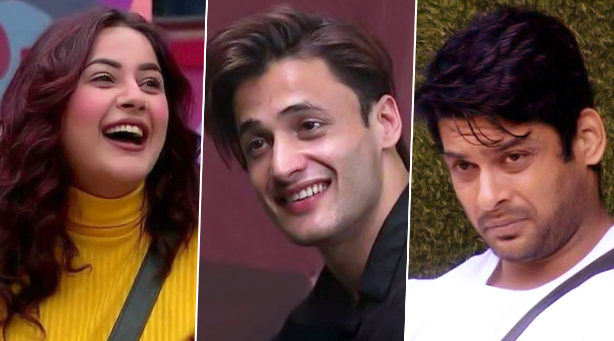 Bigg Boss 13: Shehnaaz Gill Kisses Asim Riaz to Make Sidharth Shukla Jealous, and It's the Cutest Thing Ever (Watch Video)