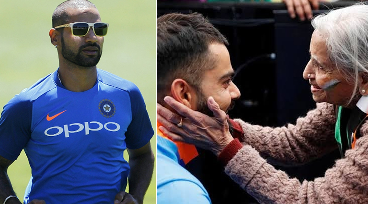 Charulata Patel Dies: Shikhar Dhawan Pays Tribute to Late Team India Superfan, Thanks Her for 'Unconditional Love and Support'