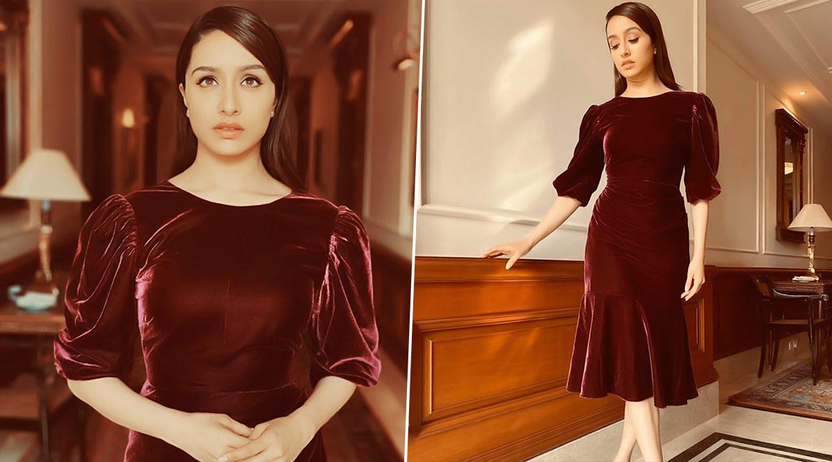 Shraddha Kapoor Looks Like a Velveteen Dream in Burgundy Dress for Street Dancer 3D Promotions!