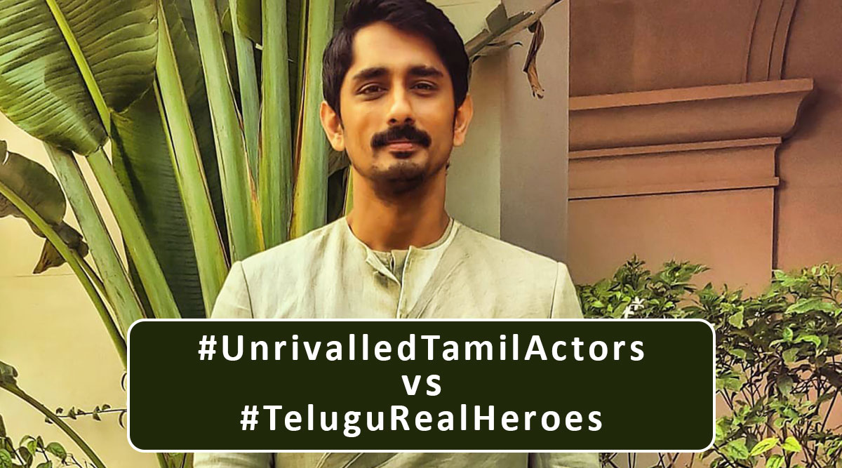 Siddharth Slams Twitterati for Clashing Trends - #UnrivalledTamilActors vs #TeluguRealHeroes; Says, 'Our Country Really Needs These Youngsters To Do More With Their Lives'