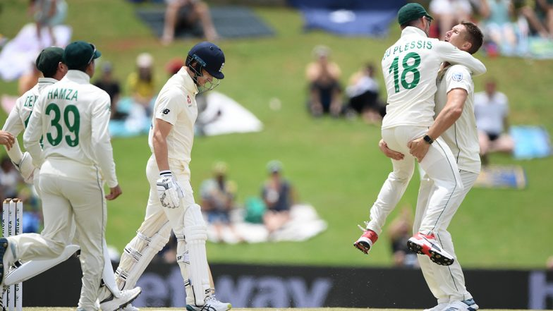 South Africa vs England Live Cricket Score, 3rd Test 2019–20, Day 1: Get Latest Match Scorecard and Ball-by-Ball Commentary Details for SA vs ENG Test From Port Elizabeth