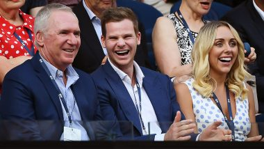 Steve Smith Spotted Watching Australian Open 2020 Quarter-Final, AO Acknowledges Presence of 'World No. 1 and World No. 2' At Rod Laver Arena