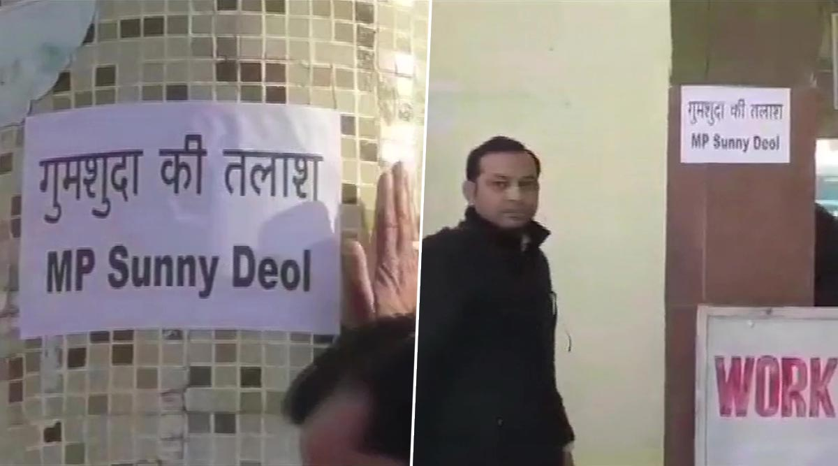 Sunny Deol 'Missing' Posters Seen in Pathankot After Locals Upset at BJP MP's 'Absence' from Gurdaspur