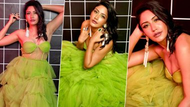 Surbhi Chandna Thanks Her 2.5 Million Instagram Family With Sexy Pictures In A Green Ruffle Dress (View Photos)