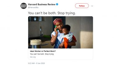 Harvard Business Review Faces Backlash for 'Ideal Worker or Perfect Mom?' After Their Tweet 'You Can't Be Both. Stop Trying.' Goes Viral