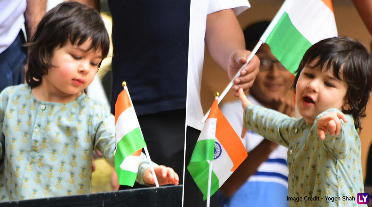 Taimur Ali Khan Celebrating Republic Day 2020 Is The Cutest Thing You Will See On The Internet Today! (View Pics)