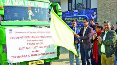 Students Exchange Programme Under Samagra Shiksha: Group of 110 Jammu and Kashmir Students Leaves for Tamil Nadu