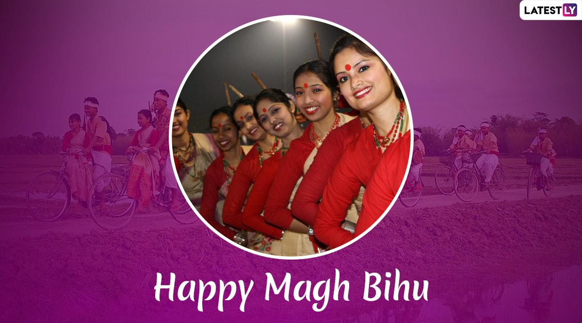 Happy Magh Bihu 2020 Wishes in Assamese: WhatsApp Stickers, GIF Images, Facebook Greetings, SMS Templates to Send Bhogali Bihu Messages