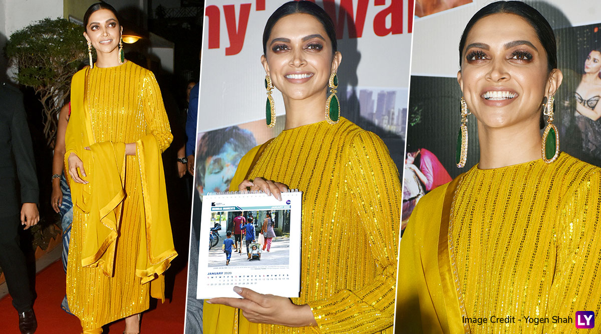 Deepika Padukone Makes a Dazzling Appearance In Yellow as She Attends a Photography Exhibition (View Pics)