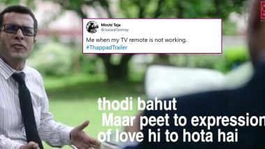 Thappad Movie Trailer Dialogues Find Relatable Funny Memes, Check Some Tweets on Taapsee Pannu's Latest Film on Social Issue!