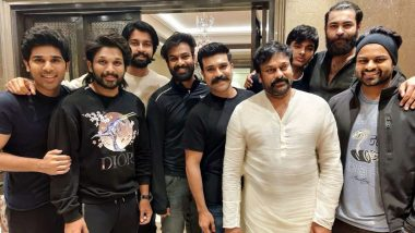 Megastar Chiranjeevi, Ram Charan, Allu Arjun and Others Come Together for Makar Sankranti 2020 Celebration! View Pic