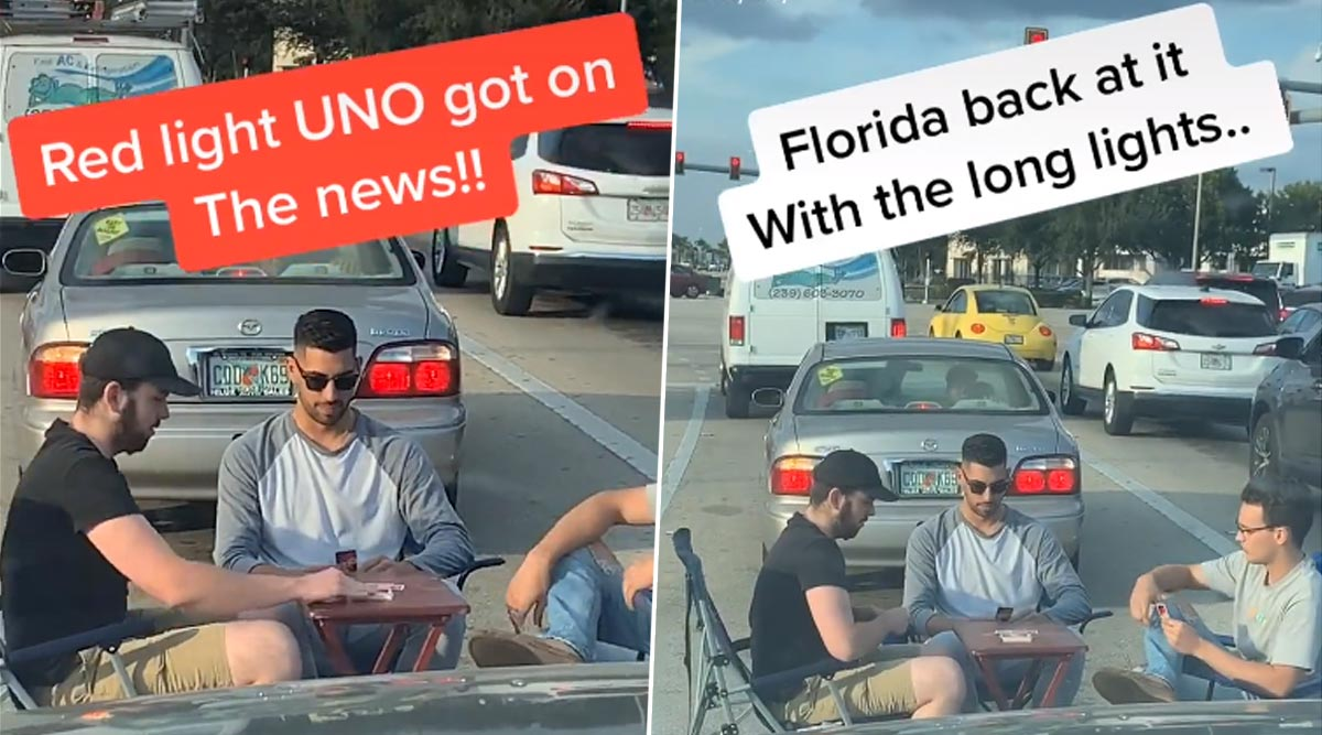 TikTok Video of Three Men Playing Cards in Middle of Florida Traffic Goes Viral And Internet Wants to Know Who Won the Game!