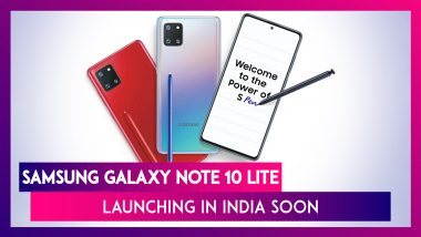 Samsung Galaxy Note 10 Lite Smartphone To Launch In India Soon; Prices, Features & Specifications