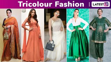 Republic Day Fashion: Allow Kangana Ranaut, Vidya Balan, Urvashi Rautela and Kalki Koechlin to Elucidate Tricolour Style!