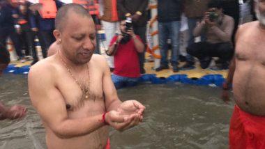 Vasant Panchami 2020: UP CM Yogi Adityanath Takes Dip in Sangam, Prayagraj, See Pics