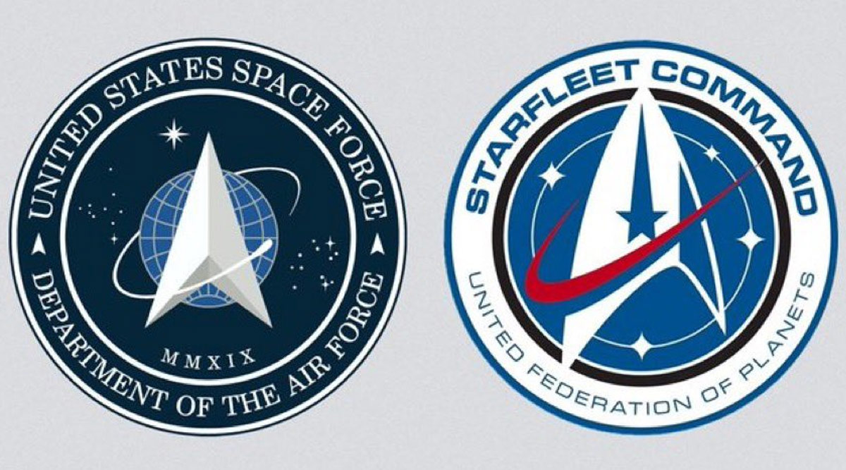 Donald Trump Gets Trolled for New US Space Force Logo That Looks Like Star Trek's Starfleet Command Logo (View Pic)