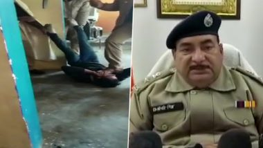 Uttar Pradesh: Policemen Thrash Deoria Man Accused of Mobile Theft, Three Cops Suspended After Video Goes Viral