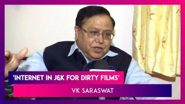 VK Saraswat, NITI Aayog Member Says, 'Internet Used In J&K For Dirty Films'; Apologises Later