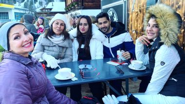 Jacqueline Fernandez Enjoys First Lunch of 2020 with Varun Dhawan and His GF Natasha Dalal in Switzerland