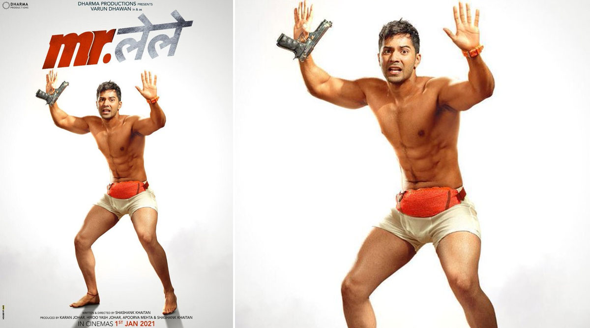 Mr. Lele: Varun Dhawan's Almost Naked Act in the First Look Poster of Shashank Khaitan and Karan Johar's Comedy Looks Intriguing