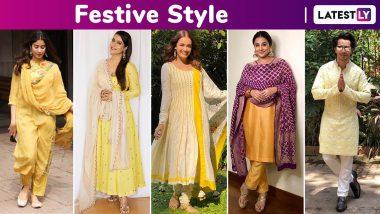 Vasant Panchami 2020: Kajol Devgan, Vidya Balan, Dia Mirza, Janhvi Kapoor, Varun Dhawan Lend Some Yellow Hued Festive Style Inspiration!