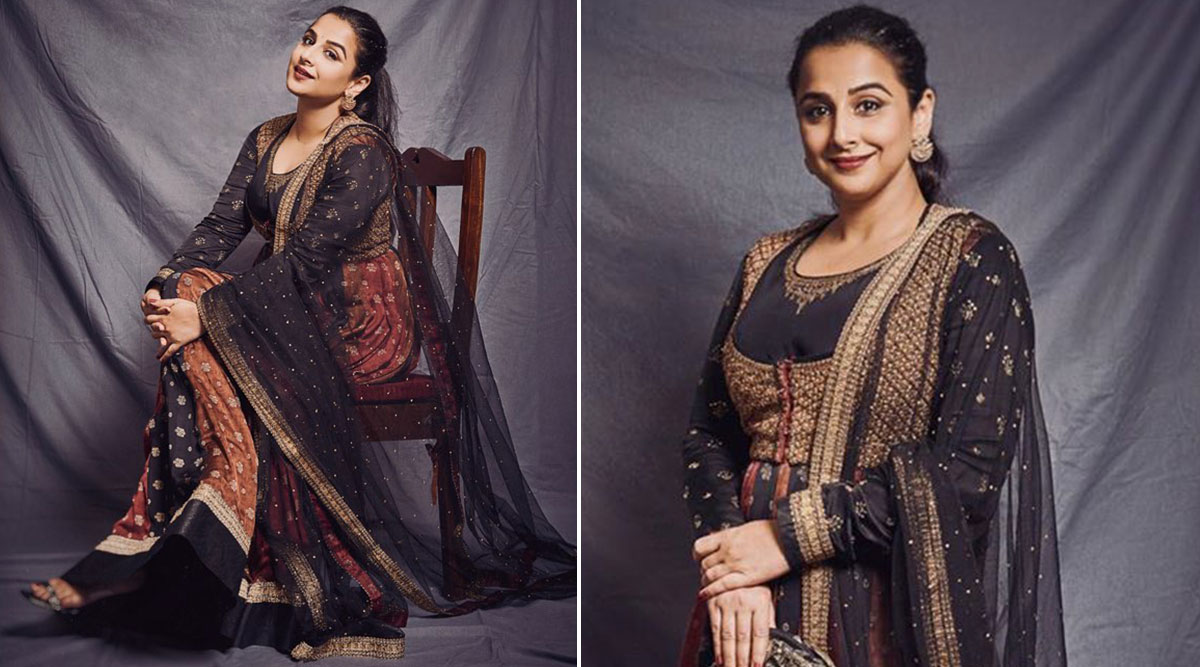 Vidya Balan in Ri by Ritu Kumar for Shakuntala Devi promotions 3.'